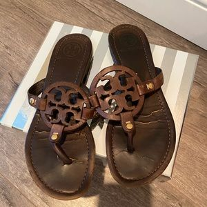 Tory Burch Brown leather Miller sandal